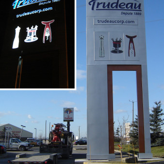 PoitrasIndustries_Enseignes_Pylone_Trudeau
